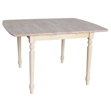 International Concepts Unfinished Turned Leg Dining Table