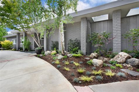 mid century modern landscaping mid century modern redo front entry midcentury landscape orange county by lee ann