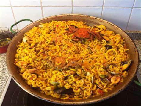recette de cuisine portugaise recette fideua espagnole ou paella de pâtes sur recettes