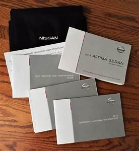 2015 Nissan Altima Sedan Owners Manual Set W   Warranty