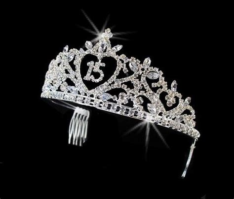 large rhinestone silver shiny quinceanera silver clear rhinestone sweet 15 quinceanera tiara ebay
