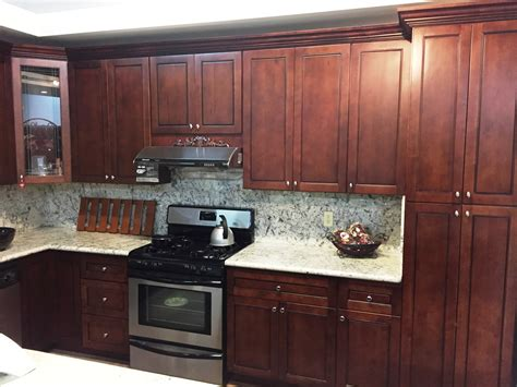 Flat Panel Cabinets by Walnut Colored Maple Flat Panel Kitchen Cabinets