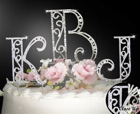 discount bridal prices monogram cake toppers wedding