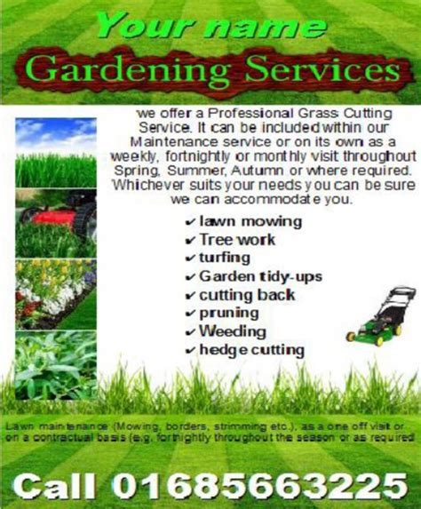 garden template gardening services business templates download business