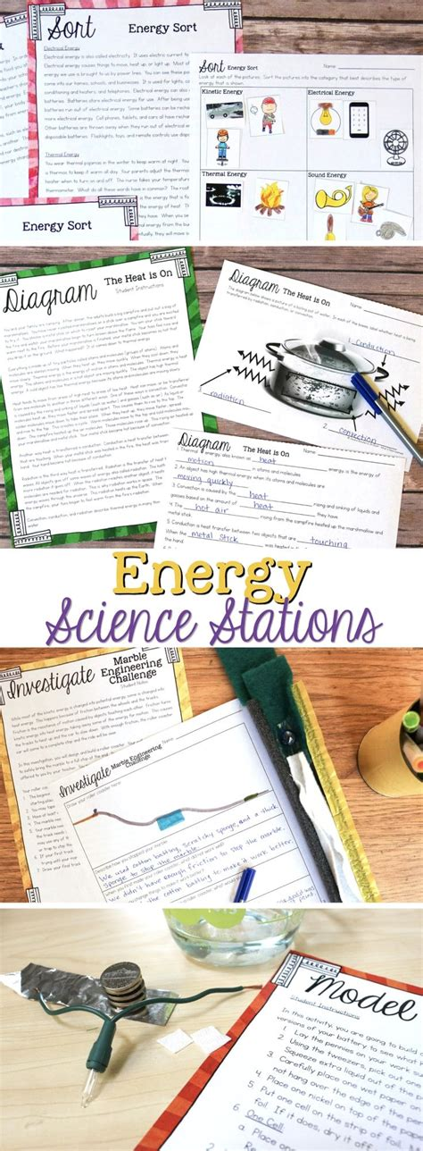 energy science stations for fourth grade science