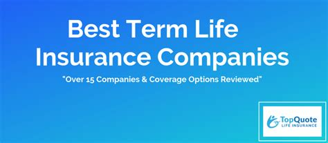 Return of premium (rop) life insurance is a relatively newer type of term insurance policy and is very similar to level term life. Best Term Life Insurance Companies