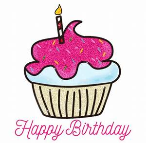 Animated Gif Birthday Greetings Cup Cake Clipart - Happy