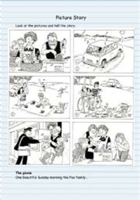 English Worksheets Picture Story Worksheets