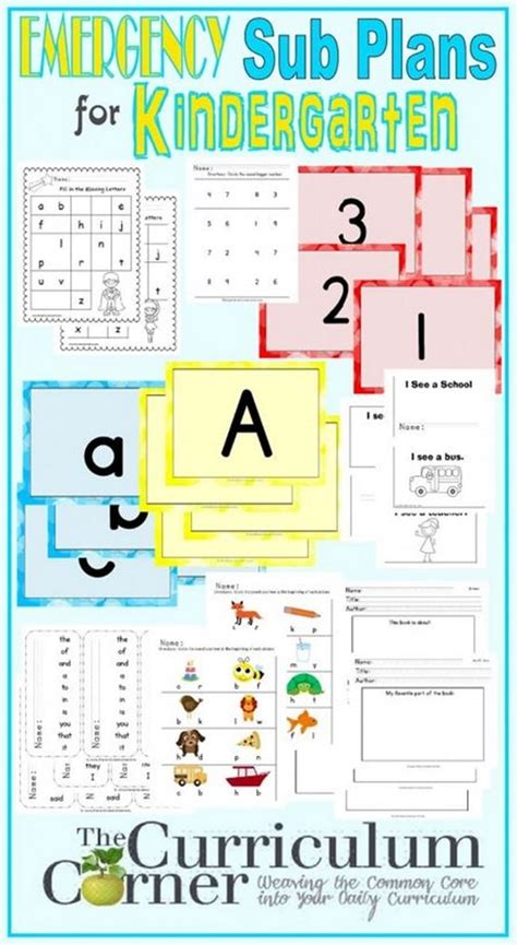 emergency substitute lesson plans kindergarten 585 | Kindergarten Emergency Sub Plans