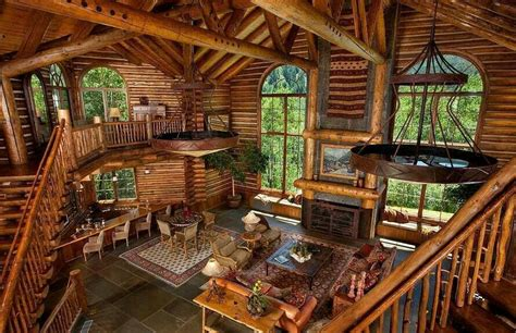 awesome home interiors amazing cabin cottages log cabins tree houses pinterest