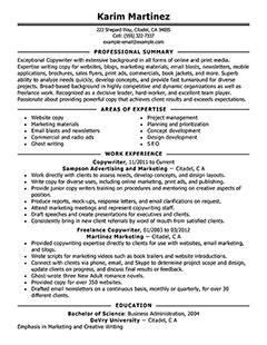 Copywriter Resumes by Copywriter Resume Keywords Copywriter Cv Exle