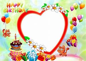 Happy Birthday photo frame png free download