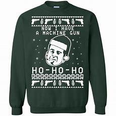 Bruce Willis Ho Ho Ho Now I Have A Machine Gun Christmas Sweater, Shirt Icestork