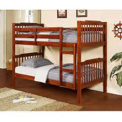 elise bunk bed with set of 2 mainstays 6 quot coil mattresses mahogany walmart com