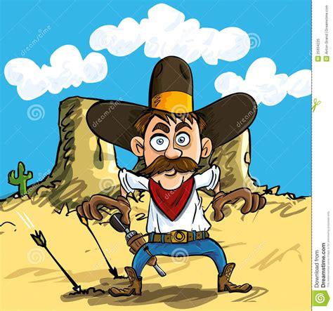 cartoon cowboy drawing  guns royalty  stock photo