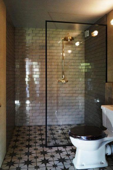 glass shower screen   black frame
