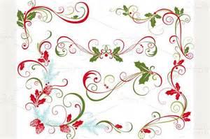 Christmas Swirl Clip Art