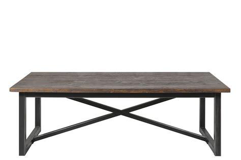 bureau bois recyclé table basse dean au style industriel en bois recyclé et