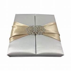 Premium Quality Satin Silk Box For Wedding Invitation