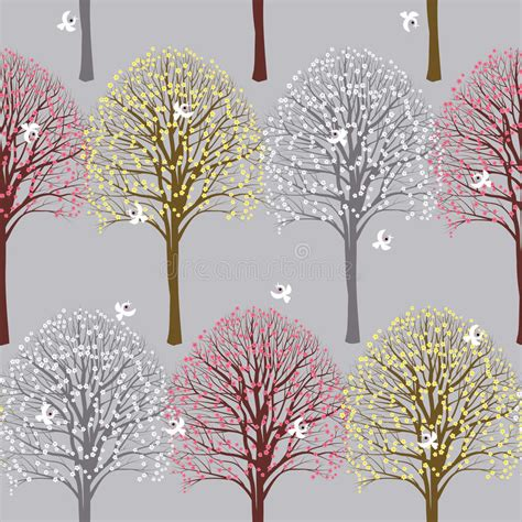 Trees stock vector. Illustration of bareness, linden ...