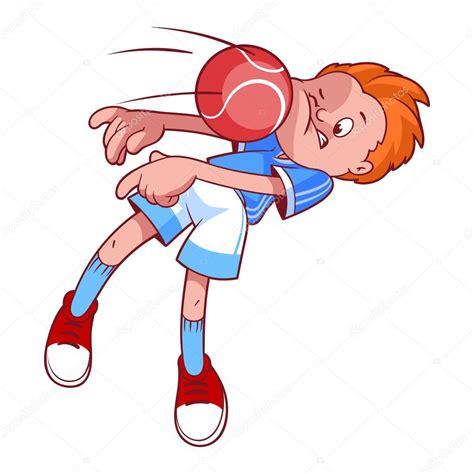 Dodgeball Clipart Child In Dodgeball Vector Illustration