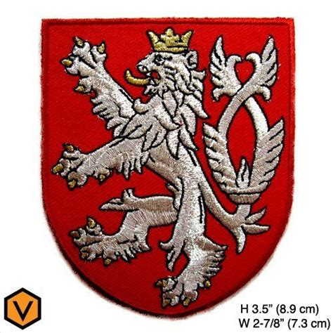 lion bohemian coat  arms czech republic red shield