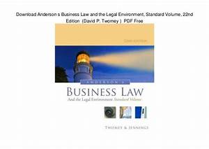 Download Anderson s Business Law and the Legal Environment ...