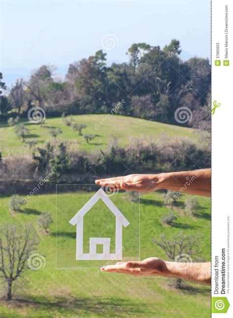 dessin 224 la maison dans les collines photos stock image