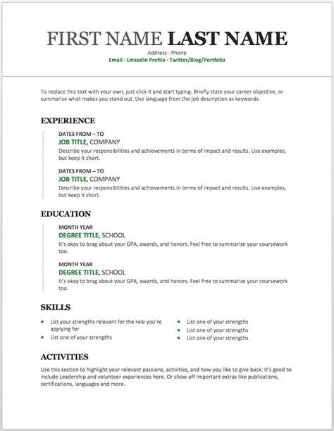 resume templates   customize  microsoft word
