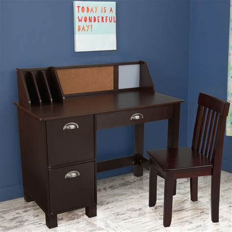 study desk with drawers espresso by kidkraft