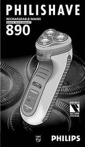 Philips Hs 890 Electric Shaver   Razor Download Manual For