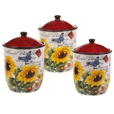 sunflower canisters for kitchen 507 best kitchen canisters images on kitchen
