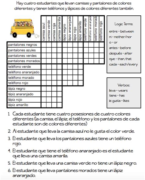 Logic Puzzles  The Comprehensible Classroom