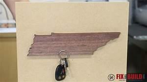 DIY Magnetic Key Holder (State Shaped) FixThisBuildThat