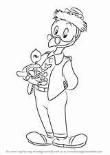 Ducktales Gyro Gearloose Draw Drawing Step Cartoon sketch template