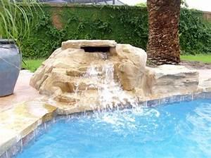 Piscine Avec Cascade : cascade piscine jardin sur enperdresonlapin ~ Premium-room.com Idées de Décoration