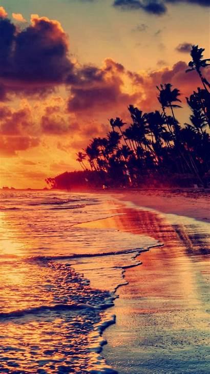 Iphone Nature Landscape Sunset Wallpapers Beach Fire
