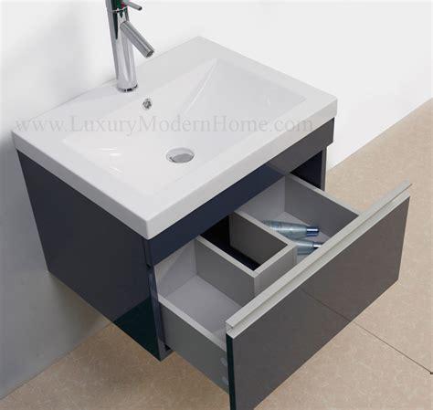 vanity sink  gray modern bathroom cabinet wall hung