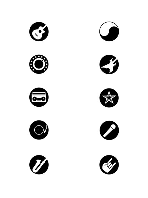 The remaining marks typically shorten a note. Music Genre Icons on Behance