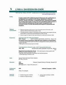 licensed practical nurse sample resume entry level nursing With entry level nurse resume