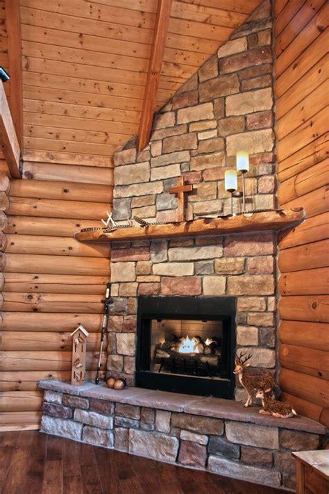 log home nestled   countryside