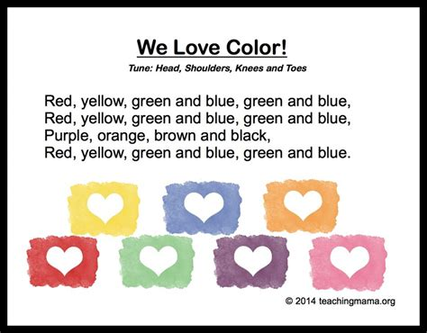 10 preschool songs about colors 578 | We Love Color Song 1024x800