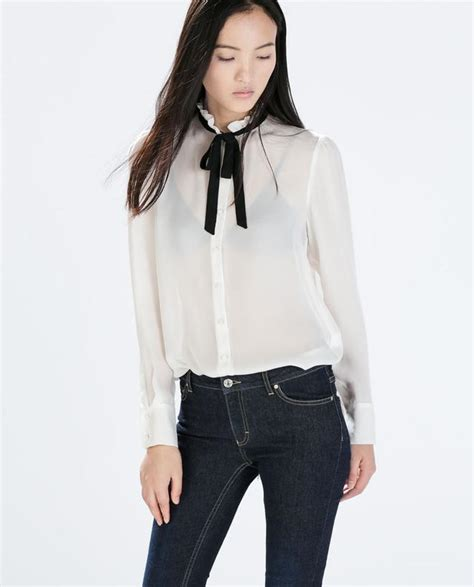 silk tie neck blouse contrast tie neck silk blouse endource