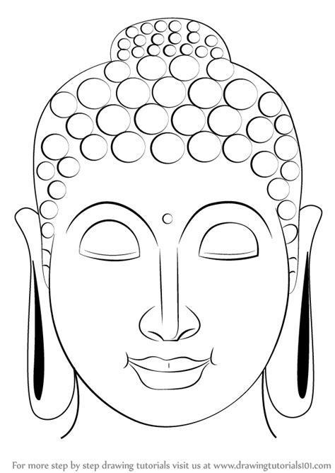 step  step   draw buddha face drawingtutorialscom