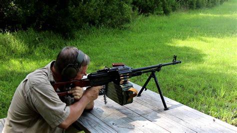Russian Pkm Machine Gun Live Fire