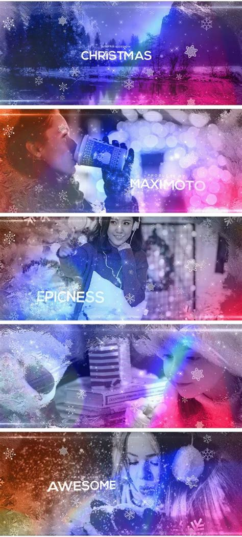 templates after effects free video e slideshow videohive elegant christmas slideshow 187 free after effects