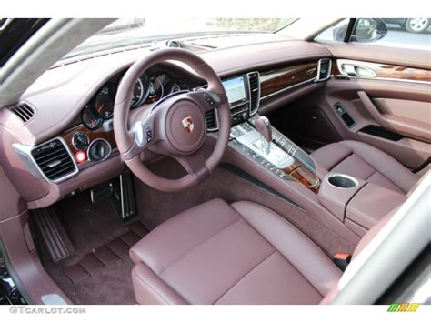 porsche panamera interior 2012 marsala red interior 2012 porsche panamera turbo photo