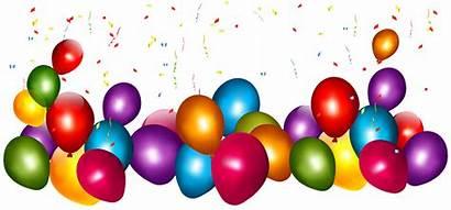 Balloons Transparent Confetti Birthday Colorful Balloon Clip