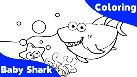 baby shark coloring book  kids abc song  children