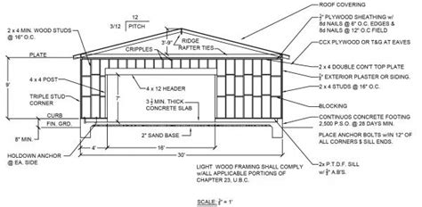 Garage Door Framing Detail by Need Help For 20 X30 Garage Framing Plan Doityourself